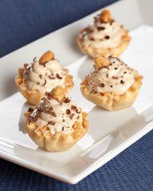 Mini Peanut Butter Phyllo Pies