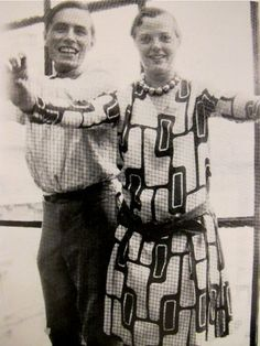 Charlotte Perriand (with Alfred Roth).  I even love the pattern on her dress.
