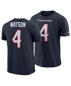 a7ef8ce65d6 Nike Men's DeShaun Watson Houston Texans Player Pride Name and Number T- Shirt - Blue S