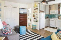 Mission Beach Studio beach-style-family-room
