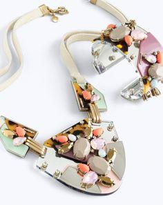 J.Crew women's techtonic necklace and techtonic bracelet. // www.wishiz.me
