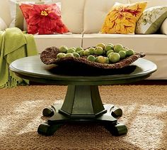 Old Pottery Barn coffee table....little bigger would be perfect