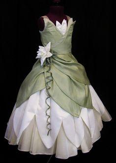 Child's Princess and The Frog Costume Dress Custom Made. $600.00, via Etsy.