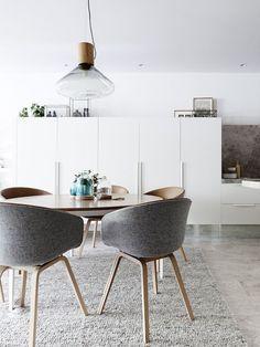 Round dining table inspiration via simply grove