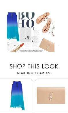 """""""Ocean Coctail"""" by apostrope ❤ liked on Polyvore featuring Whiteley, Ancient Greek Sandals, Yves Saint Laurent, Dolce&Gabbana and Oris"""