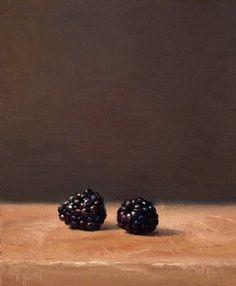 Two blackberries by Abbey Ryan
