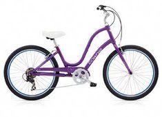 d00fcad2ffd2 Electra Women s Townie Step-Through Women s Bike Seal Grey Purple
