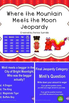 Activity guide for Where the Mountain Meets the Moon. | Education ...