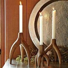Wooden Tripod Antler Candleholder-west elm