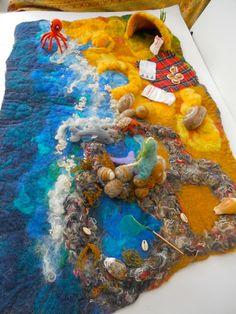 A Beach Scape Play mat Play scene Waldorf by SooSun on Etsy https://www.etsy.com/listing/202883649/a-beach-scape-play-mat-play-scene