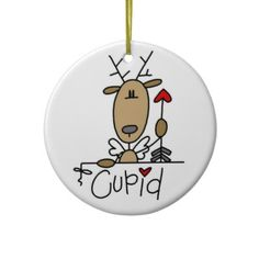 Cupid the Reindeer Christmas Keepsake Ornament by christmasshop   Click on photo to purchase. Check out all current coupon offers and save! http://www.zazzle.com/coupons?rf=238785193994622463&tc=pin
