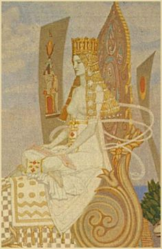 Queen of Sheba (detail): John Duncan Dundee, My Fantasy World, Fantasy Art, Fashion Illustration Vintage, Illustration Art, Illustrations, John Duncan, Duncan Grant, Tarot