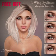 THIRD LIFE [ Frees, Gifts & Hunts ]: LEAGUE - 3 WING EYELINERS