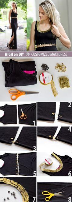 27 Most Popular DIY Fashion Ideas Ever, DIY Maxi Dress