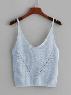 Eyelet Solid Crop Top [vest190115402] - $16.00 : cuteshopp.com