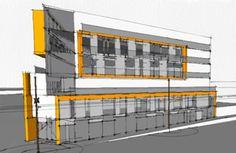 Building concept :) Building Concept, Condo, Multi Story Building, Floor Plans, Side View, Architecture, Inspiration, Home, Arquitetura