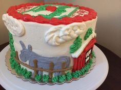 Farm Scene Panorama Cake-Black Dog Bakery by Brianna