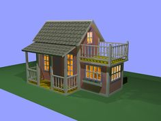 children's playhouse Проект. Детский домик.