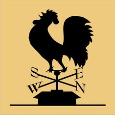 Rooster Weather Vane  STENCIL 5 sizes por SuperiorStencils en Etsy