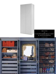 10 Totally Ingenious, Ridiculously Stylish IKEA Hacks // Live Simply by Annie  Love the hidden storage. Perfect for sleek garage look. Finally!