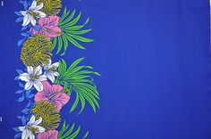 """<ul> <li>Hawaiian print polyester cotton blendfabric.</li> <li>65%polyester and 35% cotton fabric.</li> <li>Colors and shapes of this picture may vary from the original fabric.</li> </ul> <p style=""""text-align: center;"""">[Additional information below is based on a yard of this material]</p>"""
