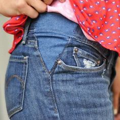 ***LOVE THIS! How To Let Out Pants [Tutorial] : If you've ever struggled to button a pair of pants be sure to check out the Letting Out Pants tutorial.