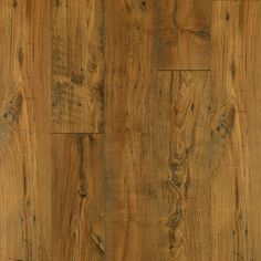 Shop Pergo MAX Premier 7.48-in W x 4.52-ft L Amber Chestnut Embossed Laminate Wood Planks at Lowes.com