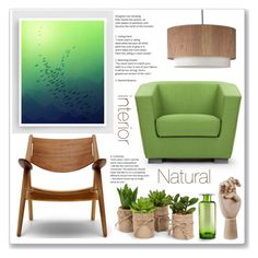"""""""natural interior"""" by mariarty ❤ liked on Polyvore featuring interior, interiors, interior design, home, home decor, interior decorating, Lights Up!, HAY and Cyan Design"""