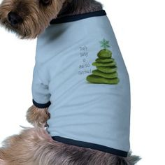 Zen Christmas Tree Doggie Shirt (Simply having an ama-zen Christmas)