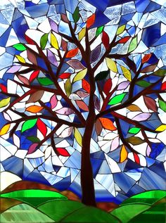 """""""Tree of Life"""" glass mosaic by Bev Green"""