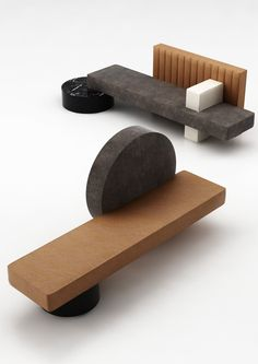 For the always wonderful Wallpaper Handmade exhibition, the Paris-based studio POOL created two sculptural sofas in collaboration with Living Divani. Bench Furniture, Urban Furniture, Furniture Design, Furniture Online, Contemporary Furniture, Geometric Furniture, Pool Designs, Sofa Design, House Design