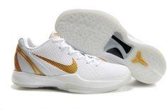 premium selection cb93b bf924 Nike Zoom Kobe 6(VI) White Gold Kobe Bryant Shoes, Kobe 6 Shoes