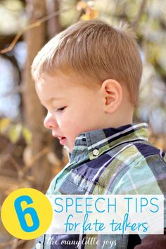 These six tips are the best of what I learned from my son's speech therapist. They're easy, no-cost ways to encourage late talkers.