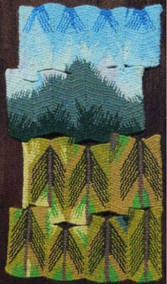 Terry Olson, Mt. Douglas, 10 x 7 inches. Juried into Small Tapestry International 4: Honoring Tradition, Inspiring Innovation « American Tapestry Alliance