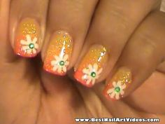 summer nail designs | Summer Nails With Flowers – Short nail design | The Best Nail Art ...