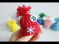 Návod jak vyrobit mini dekorační čepičky - YouTube