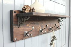 Reclaimed Wood Victorian Coat Hook Shelf By Möa Design |  Notonthehighstreet.com