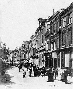 Utrecht op zondag | Binnenstad | Twijnstraat 1905
