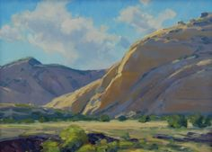 """Snow Canyon,"" Kimbal Warren, 9x12, oil on masonite gessoed board"