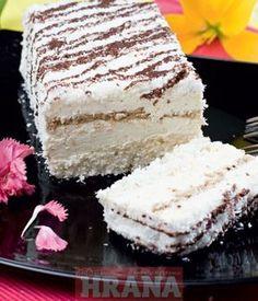 Za belu koru: 5 belanaca 150 g šećera 150 g kokosa 50 g brašna 1/2 kesice praška za pecivo 1/2 limuna Za braon koru: 5 belanaca 150 g šećera 150...