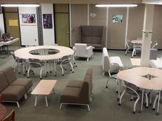 58 Ideas Seating Arrangements Classroom High School Furniture For 2019 School Library Design, Classroom Design, Classroom Decor, Classroom Seats, Classroom Furniture, Library Ideas, Classroom Organization, Library Furniture Design, Classroom Seating Arrangements