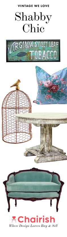 Goodbye bright and shiny, hello lovely and lived in. You'll adore these wonderfully romantic Shabby Chic pieces with the perfect amount of patina.