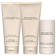 Donna Karan - Cashmere Mist Bath and Body Collection  #sephora     ONLY deodorant I'm not allergic to. Amazing