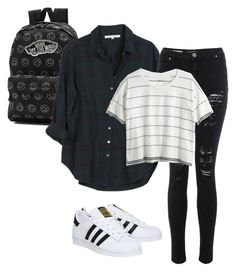 """Grunge"" by peanutbutter-n-nutella on Polyvore featuring Vans, Xirena, Madewell and adidas"