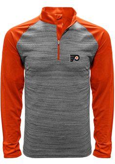 67095111dee Philadelphia Flyers Mens Grey Vandal Long Sleeve 1 4 Zip Pullover