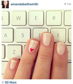 Nails...cute for valentine's day