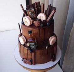 30th Birthday Cakes For Men, Birthday Drip Cake, Bithday Cake, Birthday Cake For Husband, Novelty Birthday Cakes, Teacher Cakes, Whiskey Cake, Chocolate Drip Cake, Drip Cakes