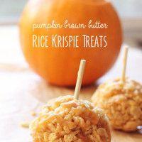 Pumpkin Rice Krispie treats! Fall fun in one of my fave flavors!