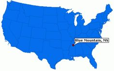 Blue Mountain, Mississippi. The hometown of Laura Wingfield from the Glass Menagerie