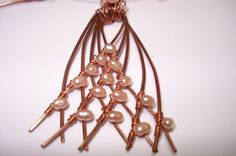 copper'n'pearls Unique handmade pendant and by helenshmcreations, £34.00